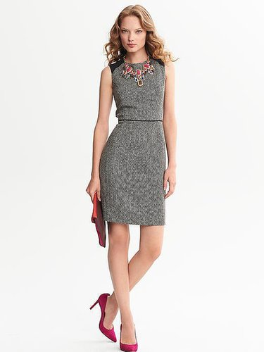 Piped Tweed Sheath