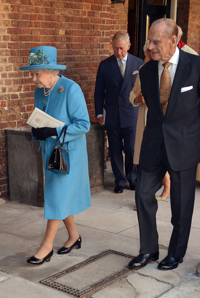 The Queen and Prince Philip attended their great-grandson's christening.