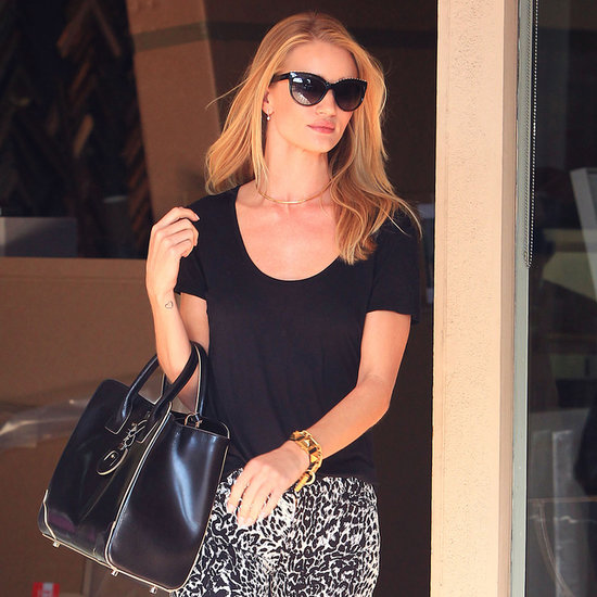 Rosie Huntington-Whiteley Wearing Leopard Jeans