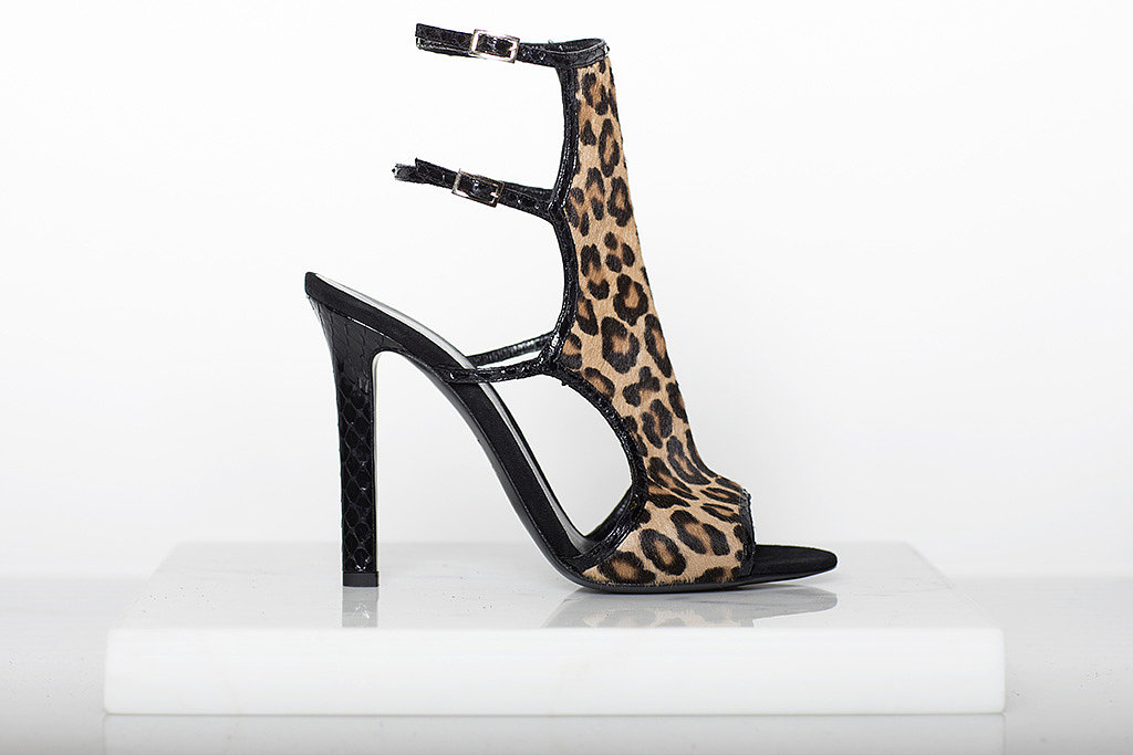 Trouble Maker Pony Sandal Bootie in Leopard ($995) Photo courtesy of Tamara Mellon