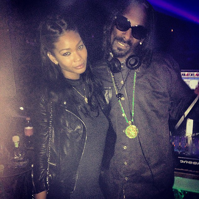 Chanel Iman partied with Snoop Lion on his birthday. Source: Instagram user chaneliman