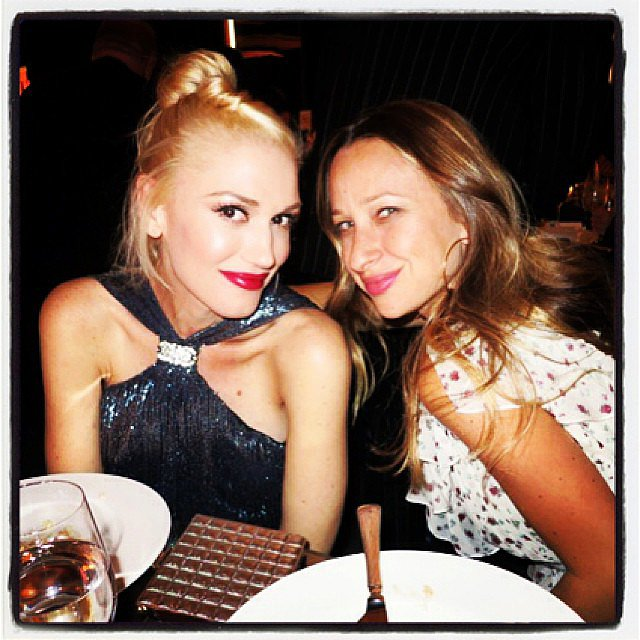 Gwen Stefani and Jennifer Meyer posed together during the Annenberg Gala. Source: Instagram user rachelzoe