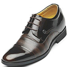 Black / Brown Men Height Inceasing Dress Shoes add tall 7cm / 2.75inch