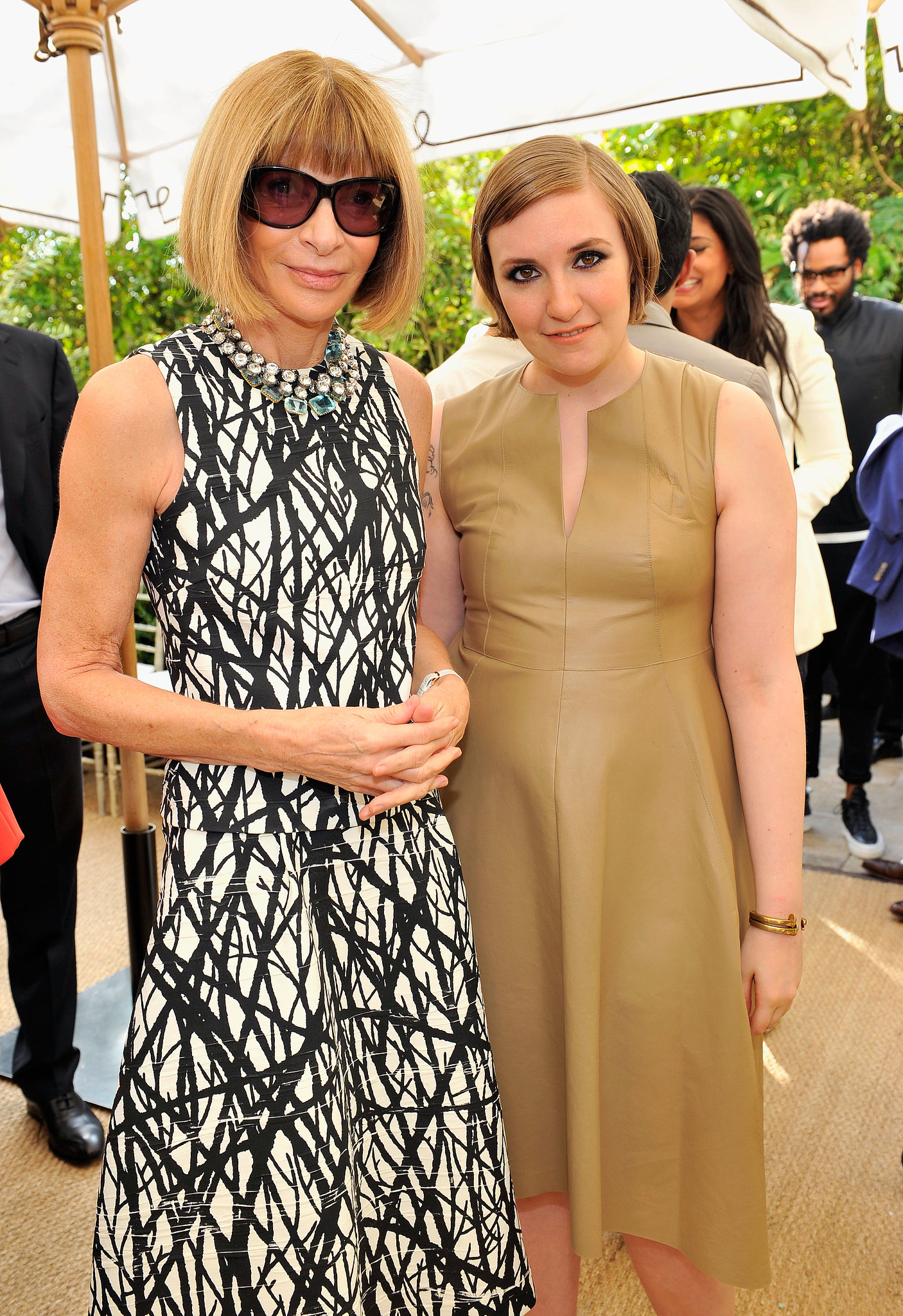 Anna Wintour and Lena Dunham made a well-bobbed pair while feting the CFDA/Vogue Fashion Fund nominees.