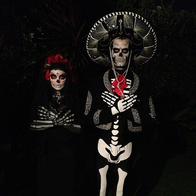 Josh Duhamel shared his spectacular Day of the Dead costume with Fergie on his Instagram. Source: Instagram user jos