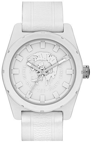 DIESEL® 'NSBB' Logo Dial Silicone Strap Watch, 46mm