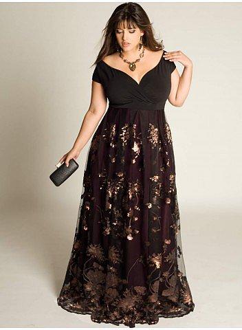 Lakshmi Beaded Plus Size Gown