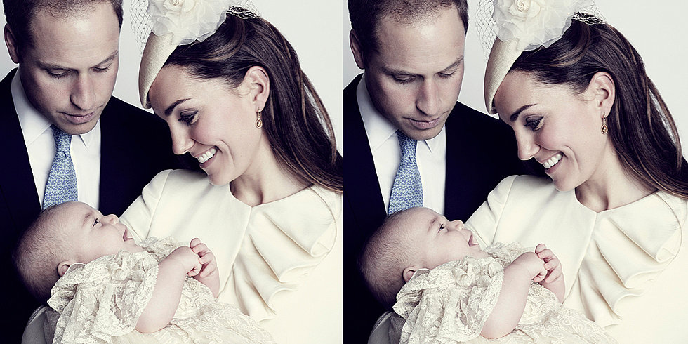 Prince George Grins at Kate in a New Christening Portrait!