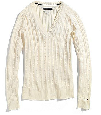 Tommy Hilfiger Women's Solid Cable Knit Sweater