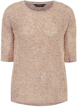 Nude metallic jersey knit