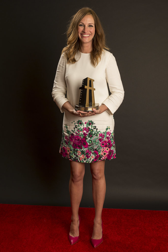 She couldn't contain her excitement after being honored with a Hollywood Film Award in October 2013.