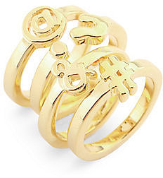Social Media Icon Ring Set