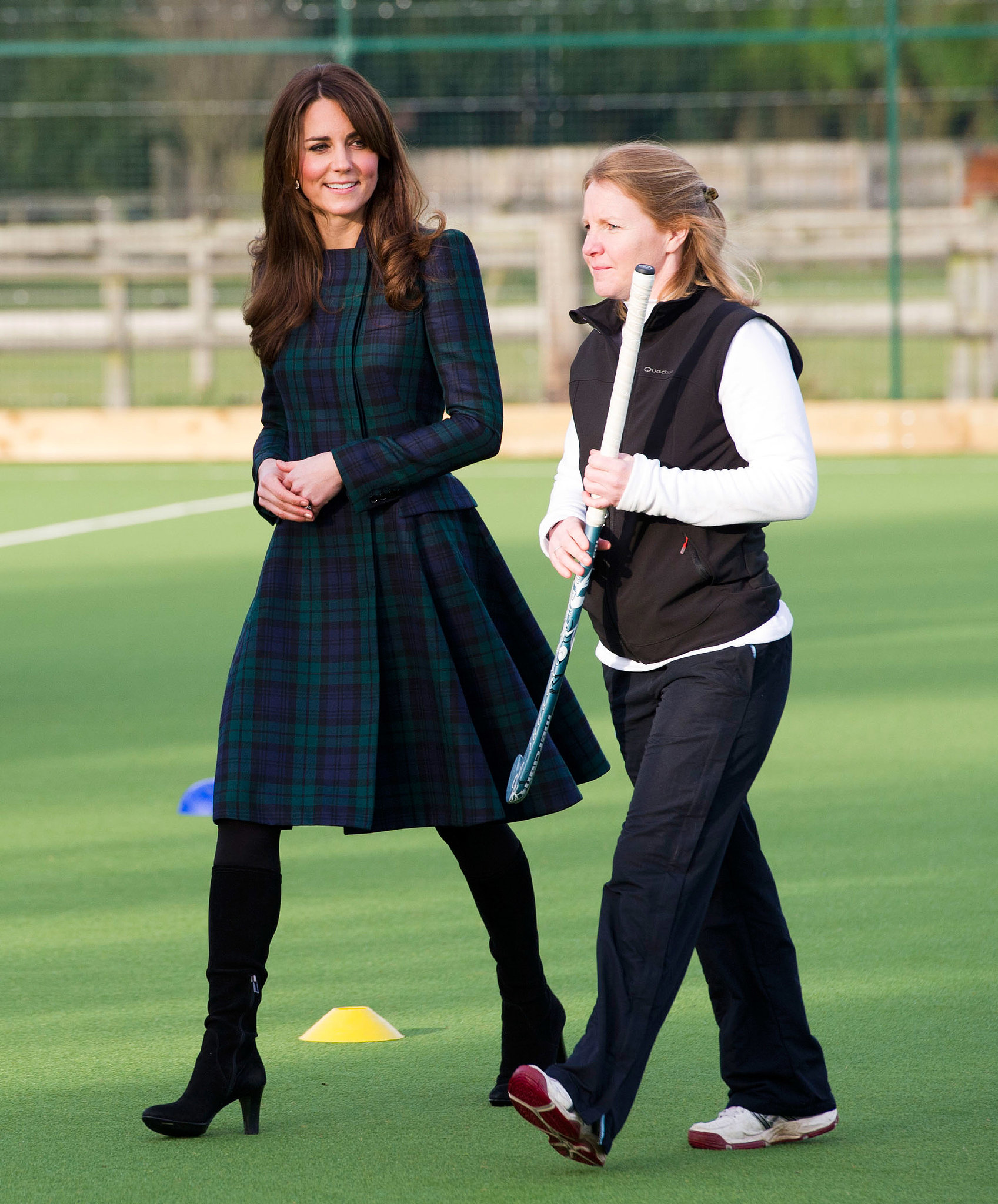 Kate's sporting McQueen? Dark green plaid, of course.