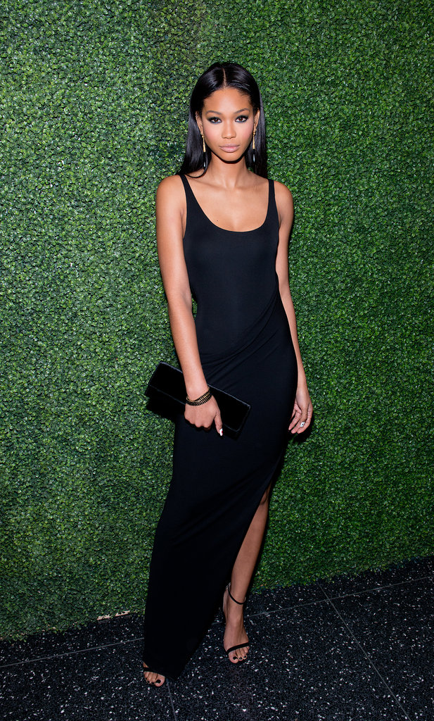 Chanel Iman slinked onto the scene in a black column for  Ralph Lauren's To Catch a Thief screening.