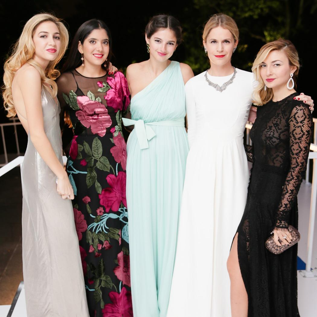Nasiba Adilova, Eugenie Niarchos, Natalya Poniatowski, Noor Fares, and Sabine Ghanem made for a chic party at the Two x Two amfAR gala.