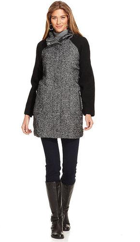 Style&co. Coat, Mixed-Media Tweed