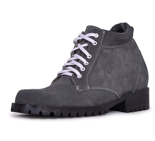 Gray men best taller boots that make you taller 9cm / 3.54inch