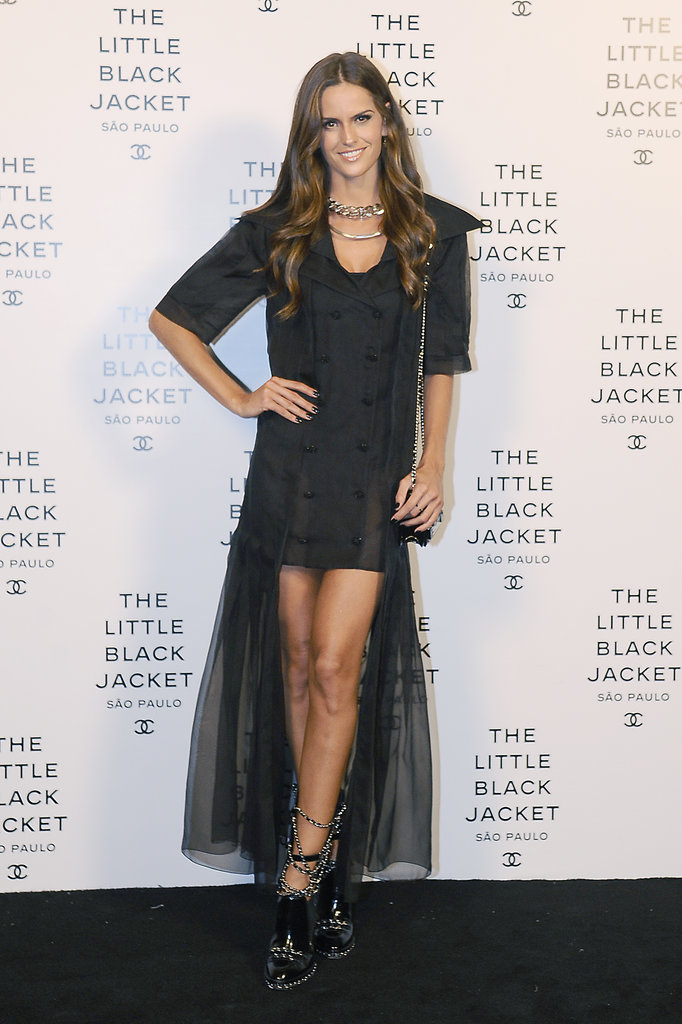 Izabel Goulart showed some leg in an asymmetric design on the Chanel carpet.