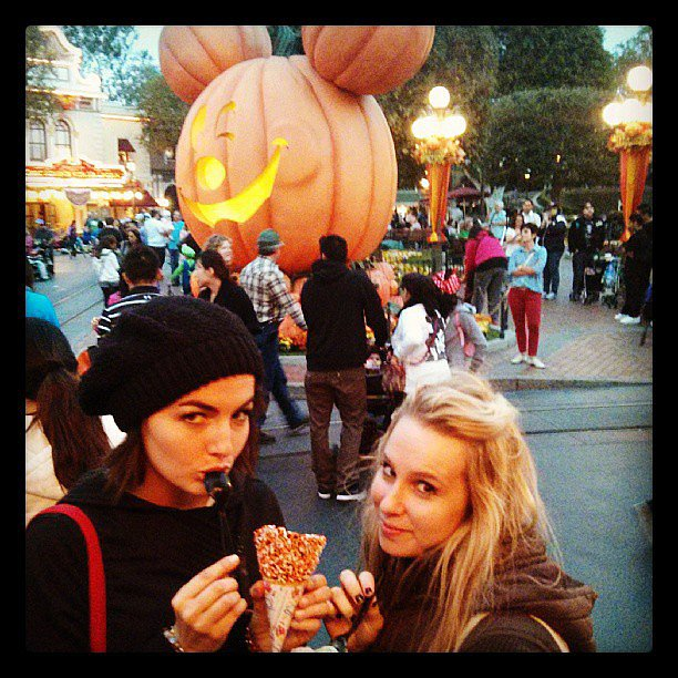 Camilla Belle and a gal pal spent the day at Disneyland. Source: Instagram user camillabelle