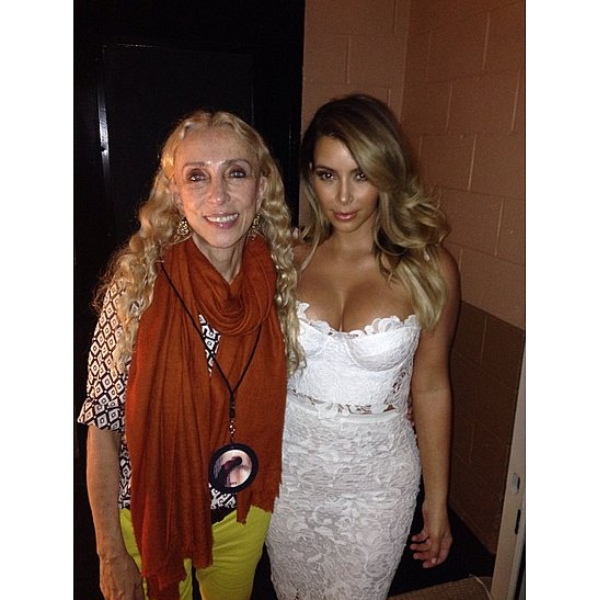 Photo of Franca Sozzani & her friend celebrity  Kim Kardashian -