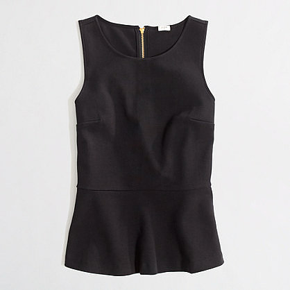 Factory peplum ponte top