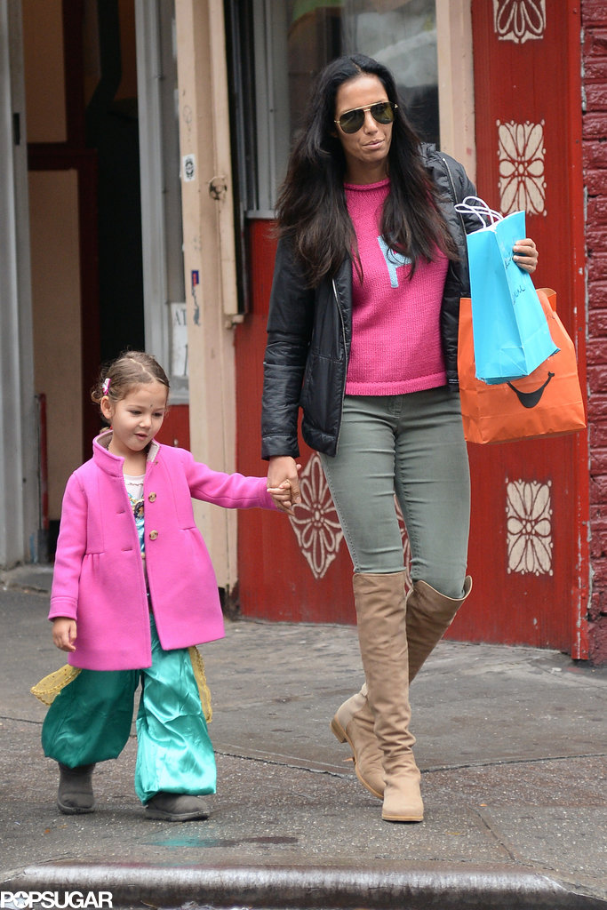 Padma Lakshmi went for a comfortable look while trick-or-treating in NYC.