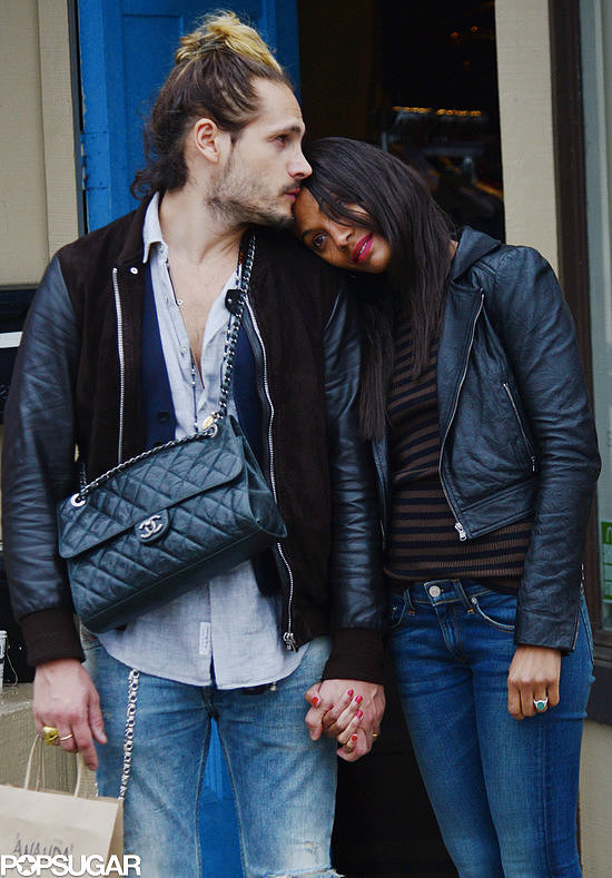 Zoe Saldana and her husband, artist Marco Perego, were aww-inducing while running errands in LA on Monday.