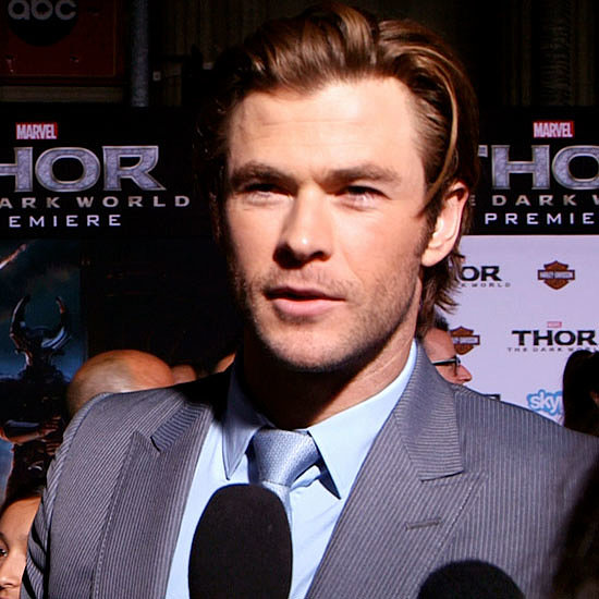 Video Celeb Interview: Chris Hemsworth Saved Someone's Life