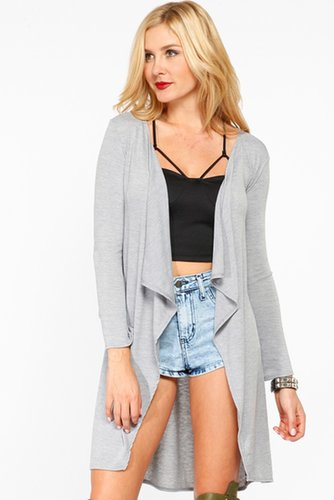Long Over Sized Grey Cardigan
