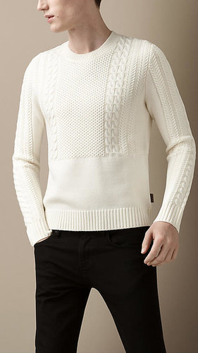 Placement Cable Knit Sweater
