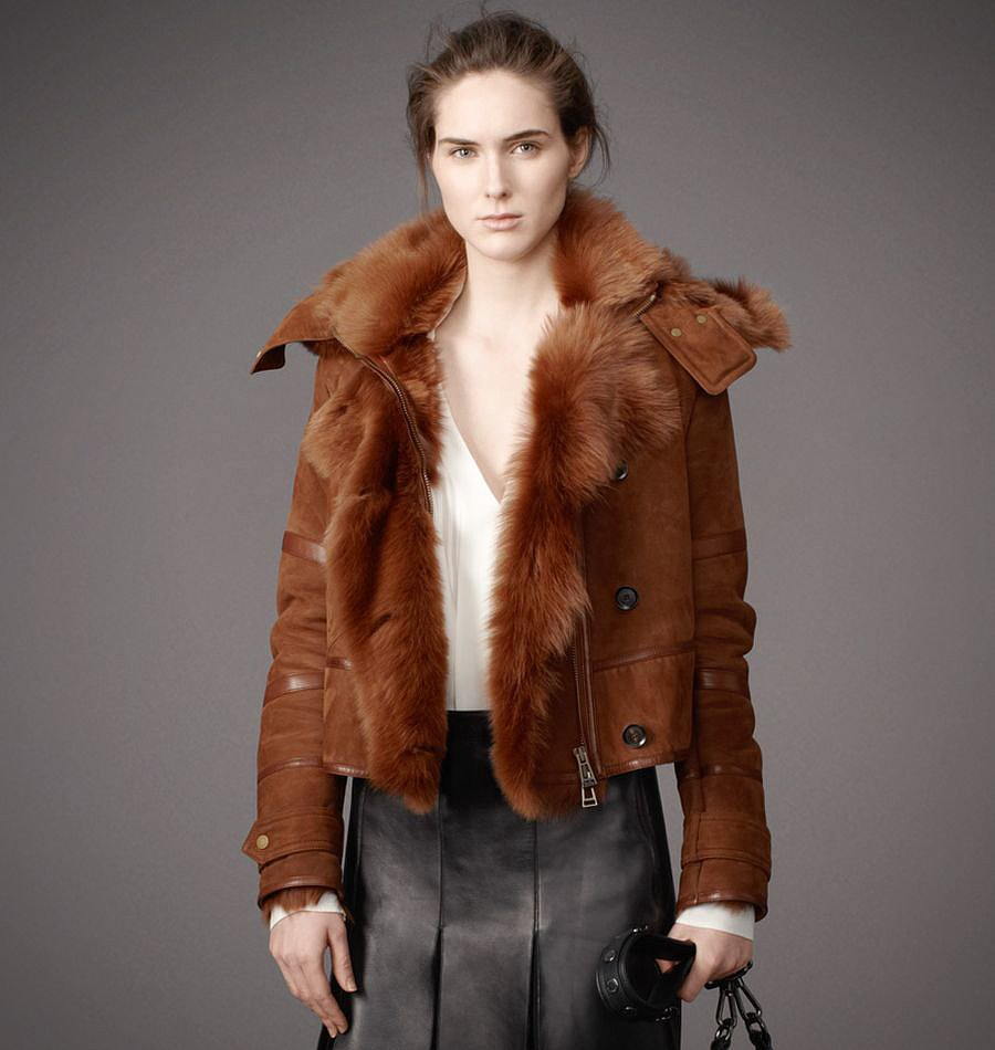 And if you just want to ogle something, look no further than Belstaff's crazy-luxe tobacco hued style ($7,000).
