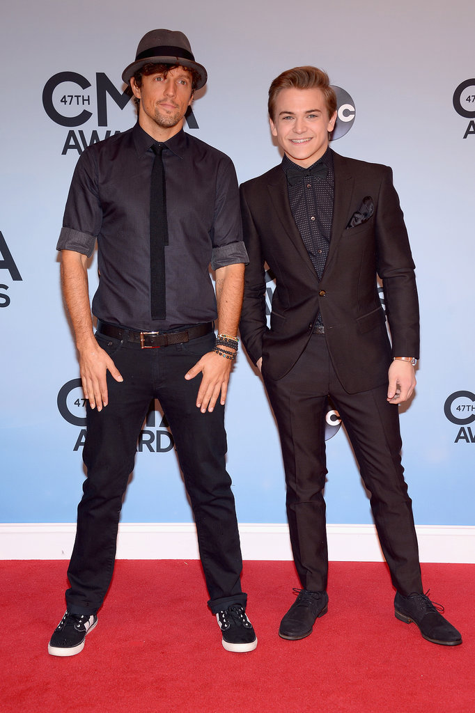 Jason Mraz hung out with Hunter Hayes at the CMAs in Nashville on Wednesday night.