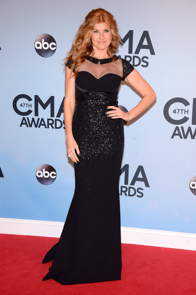Connie Britton dazzled on the red carpet at the CMAs on Wednesday night.