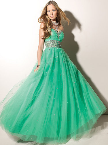 Empire Sweetheart Tulle Floor-length Sleeveless Sequins Prom Dresses at sweetquinceaneradress.com