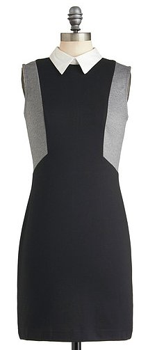 We adore this preppy-sweet Mod Cloth greyscale graphics dress ($45).