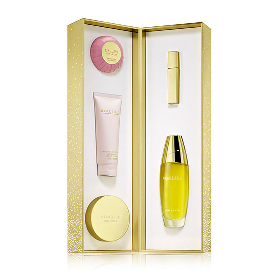 The Estée Lauder Beautiful Ultimate Luxuries ($120) is perfect for the classic beauty on your list. In this box she'll find the fragrance, body lotion, body wash, bar soap, and an atomizer.