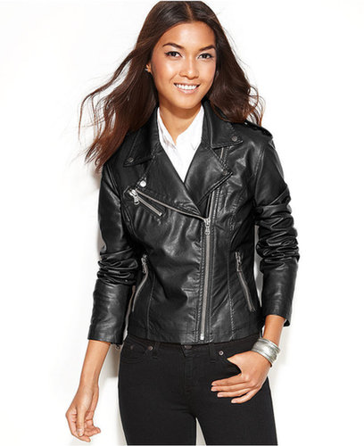 Levi's Jacket, Asymmetrical Faux-Leather Motorcycle