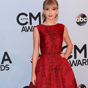 Taylor Swift in Red Dress at CMA Awards