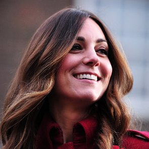 Kate Middleton's Hair With a Center Part on Poppy Day 2013