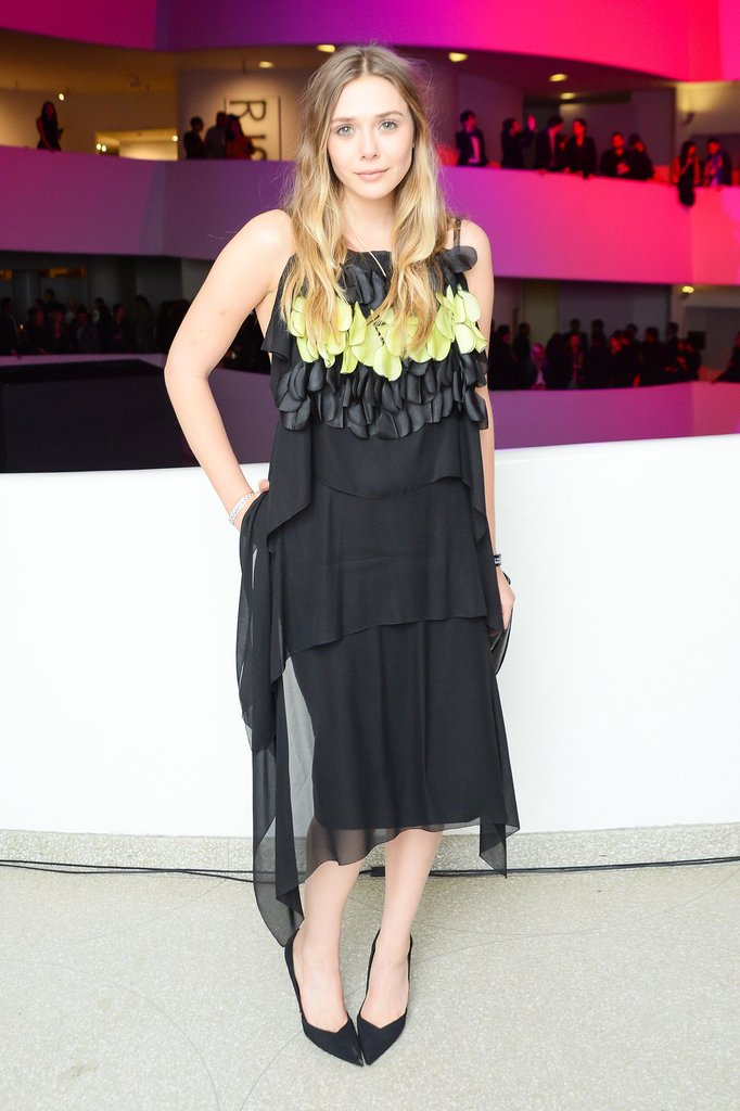 Elizabeth Olsen in Dior Haute Couture Cocktail Dress