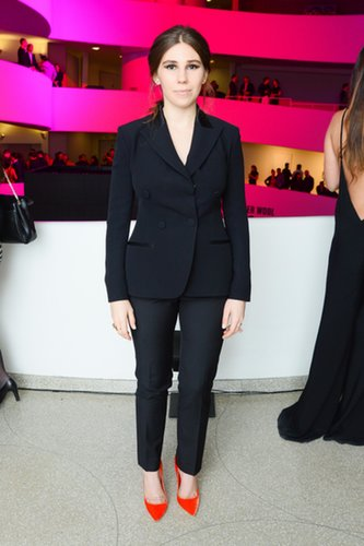 Zosia Mamet in Dior Suit