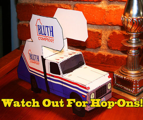 Arrested Development Cut-and-Fold Bluth Company Staircar ($20)