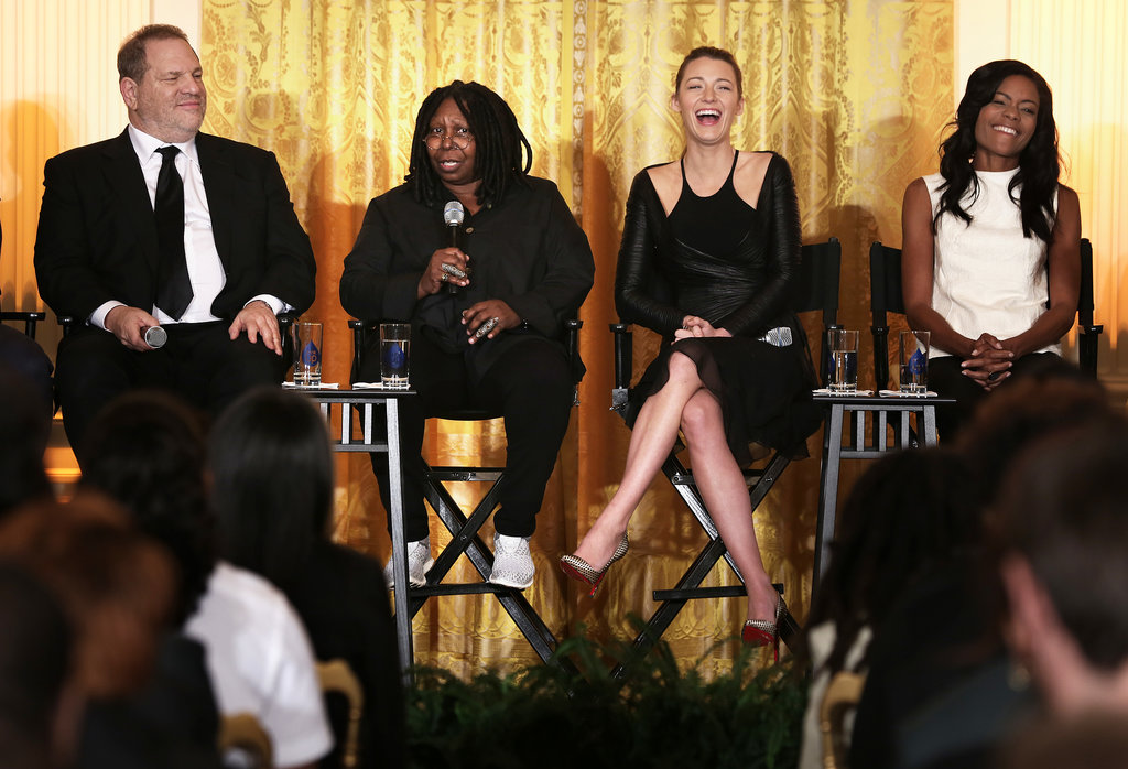 Harvey Weinstein, Whoopi Goldberg, Blake Lively, and actress Naomie Harris took the stage.