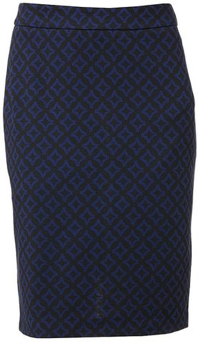 Dana buchman geometric ponte pencil skirt