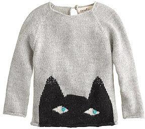Baby Oeuf® peeking cat sweater