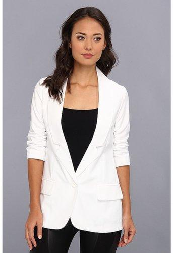 Gabriella Rocha - 3/4 Scrunch Sleeve Blazer (White) - Apparel