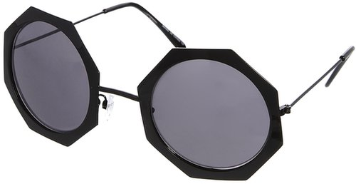 ASOS Oversized Metal Hexagon Sunglasses