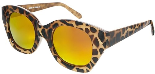 ASOS Chunky Cat Eye Sunglasses With Mirrored Lens