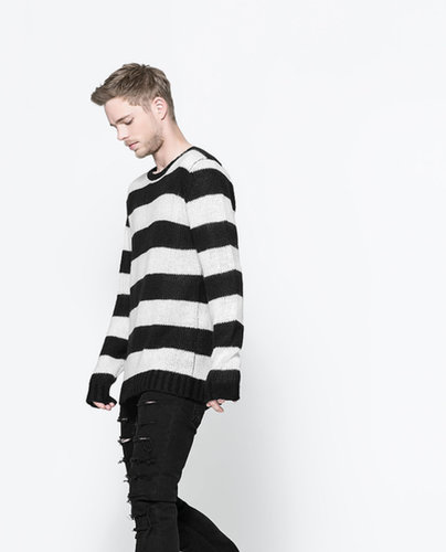 Two-Tone Striped Sweater