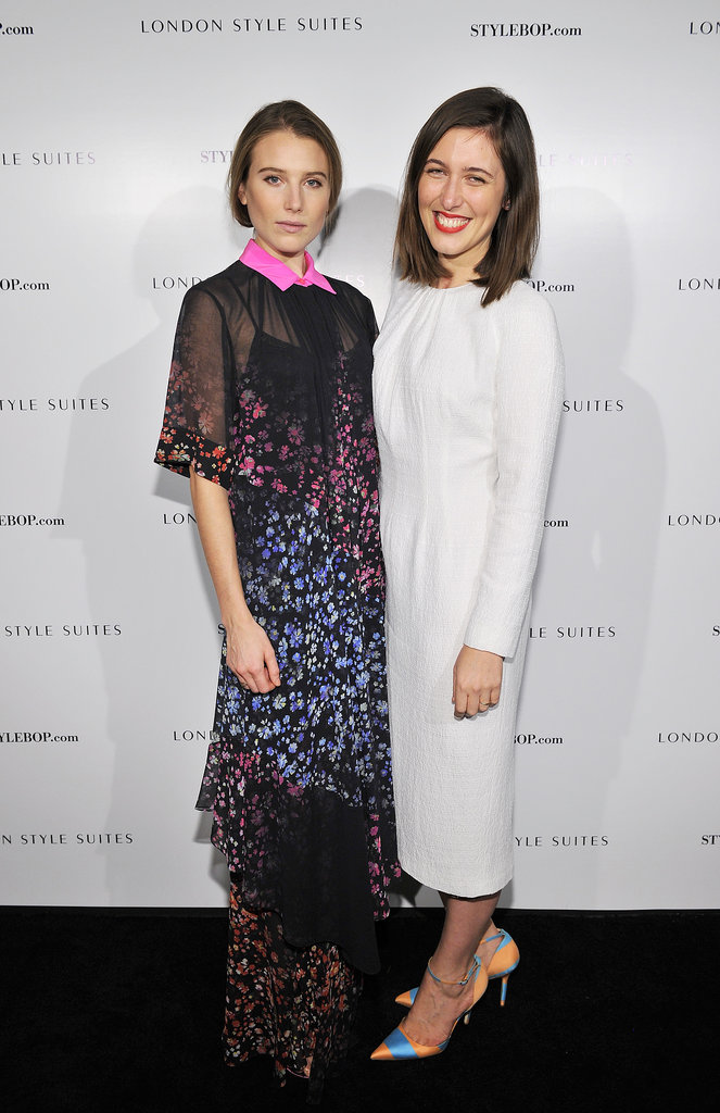 Dree Hemingway in Preen by Thornton Bregazzi and Emilia Wickstead at The British Fashion Council and Stylebop.com's celebration of the London Style Suites.
